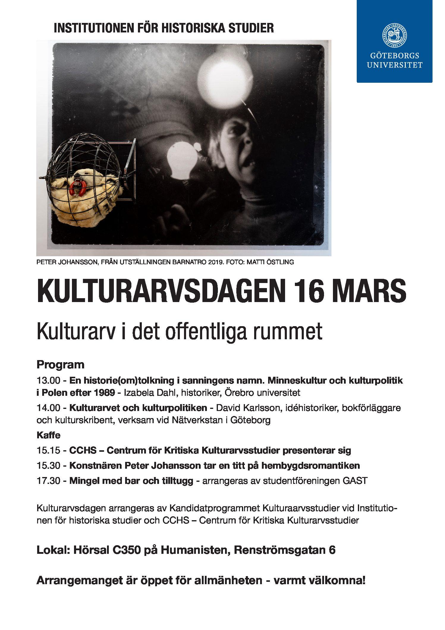 Kulturarvsdag 16 mars